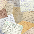 Vintage handwriting collage - Foto Stock