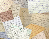 Vintage handwriting collage — Stock Photo