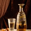 Vintage still life with alcohol — Stock Photo