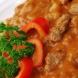 Detail of pork goulash — Stock Photo