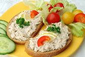 Tuna fish spread snack — Stock Photo
