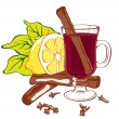 Stock Vector: Mulled wine