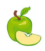 Green apple — Stock Vector