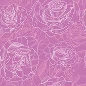 Rose Pattern — Stock Vector