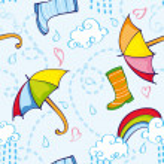 Постер, плакат: Rainy PatternRainy Pattern
