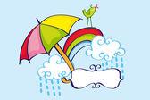 Rainy Card — Stock Vector