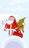Santa Claus card — Stock Vector