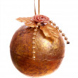 Vintage Gold Christmas Decoration — Lizenzfreies Foto