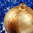 Golden bauble — Stock Photo