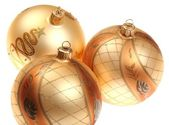 Golden Christmas bauble — 图库照片