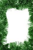 Empty green Christmas frame — Stock Photo
