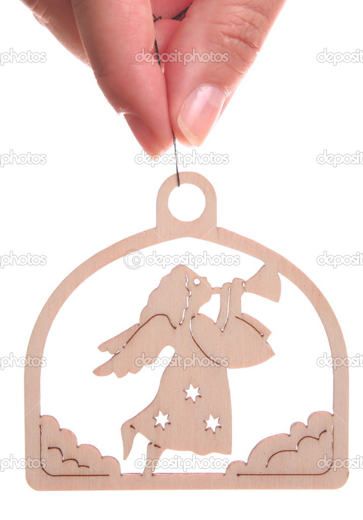 Christmas angel decoration with finger  — Stock Photo #2296333