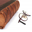 Old book & eyeglasses — Stock Photo #2306086