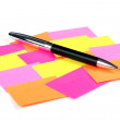 Memo stick and pen — Stock Photo #2307083