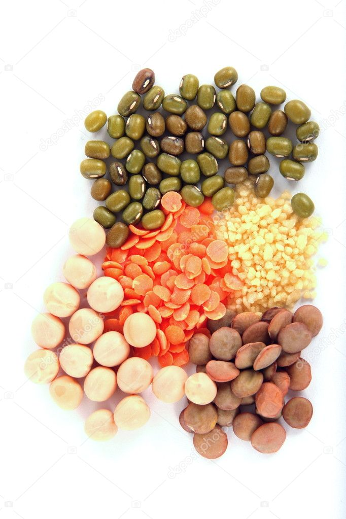 Set of beans on white background — Stock Photo #2307027