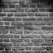 Stock Photo: Black & white tone, brick wall