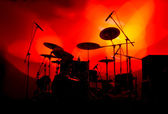 Drum Set on Stage — Stock Photo