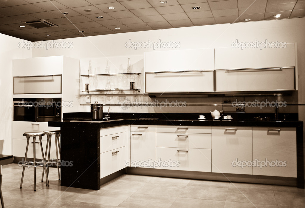 New Kitchen sepia shot — Stock Photo #2301542