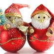 dwie postacie Boże Narodzenie — Zdjęcie stockowe