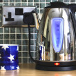 Stock Photo: Electric kettle and cup