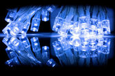 Cold blue LED lights closeup — Stock Photo