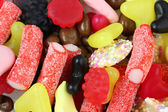 Sweets and candy mix close up — Stock Photo