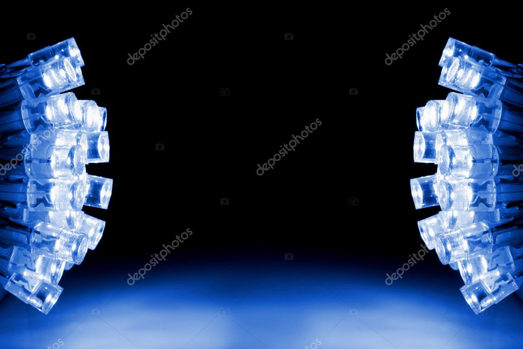 Cool blue LED lights both sides of the image — Stock Photo #2373515