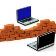 Firewall protection for laptops — Stock Photo #2380393