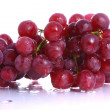 Bunch of wet red grapes - Stock Photo