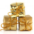 Stock Photo: The gold box parcels