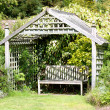 Romantic garden hideaway - Stock Photo