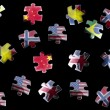 Flag jigsaw pieces — Stock Photo