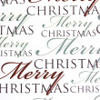 Merry Christmas words on paper backgroun - Stock Photo