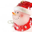 Snowman on white background — Stock Photo