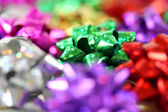 Gift bows with a shallow depth of field — Stock Photo