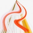 Red and orange speed lines and curves — Stock Photo #2523309