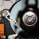 Inside a computer hard drive — Stock Photo