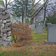 Cemetery landscape scene - Stock Photo