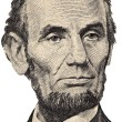 Stock Photo: Lincoln's portrait