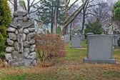 Cemetery landscape scene — Stock Photo