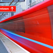 Red high speed train — Stock Photo