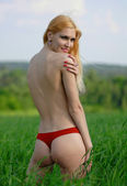 Back of beautiful blond — Stock Photo