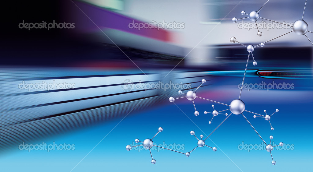 Abstract progress in the chemistry  Foto Stock #2261636