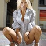 Blonde in chemise — Stock Photo