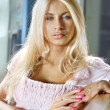 Face of blonde — Stockfoto