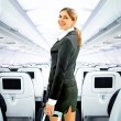 Flight attendant — Foto de Stock