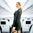 Flight attendant — Stock Photo