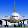 Air liner at the airport — Stock Photo