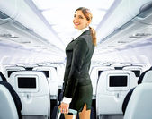 Flight attendant — Стоковое фото