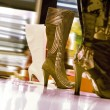 Boots in a shop — Stock Photo